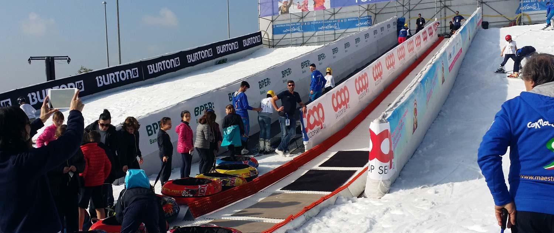 Schneerampen von snow+promotion für Sommer und Winter